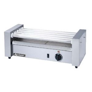 """Hot Dog Grill, Roller-type, 22½""""x8½""""x8"""", S/S"""