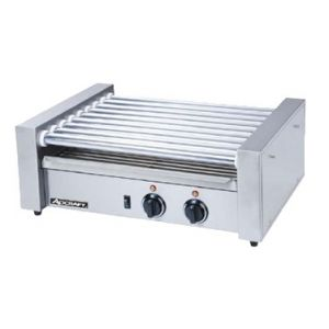 """Hot Dog Grill, Roller-type, 22½""""x15-1/3""""x8"""", S/S"""