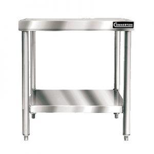 "Work Table, 30""x36"",Stainless Steel Top/Shelf/Legs"