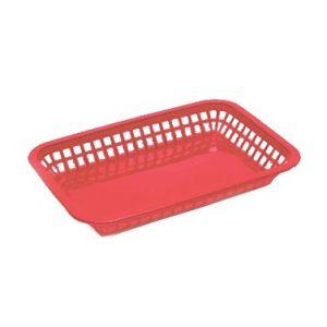 """Grande Platter Basket, 10¾""""x7¾""""x1½"""", Red"""