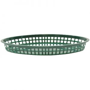"""Texas Platter Basket, 12¾""""x9½""""x1½"""", Oval, Green"""