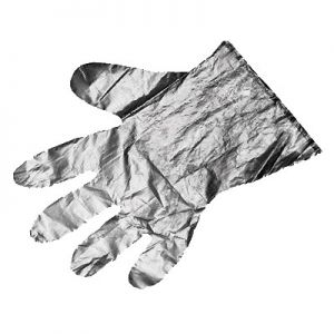 "Gloves, Disposable, 9½""x11-13/16"", Embossed, Large"