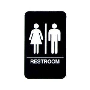"Sign, ""Restroom"", 6""x9"""