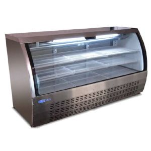 "Deli Case, 82"", Curved Glass, Refrigerated, Black"