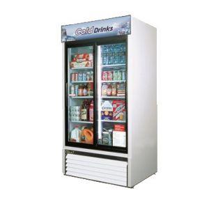"""Merchandiser Cooler, 41"""", 2x Sliding Glass Door,WH"""