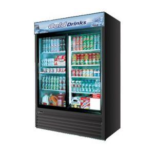 """Merchandiser Cooler, 56"""", 2x Sliding Glass Door,BK"""