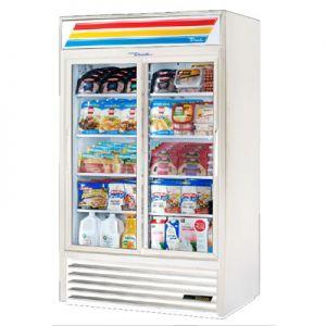 """Merchandiser Cooler, 47"""", 2x Sliding Glass Door,WH"""