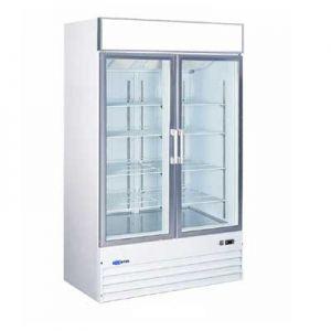 """Merchandiser Cooler, 53"""", 2x Glass Swing Door"""