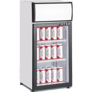 """Merchandiser Cooler, 18½"""", CT, 1x Glass Door, 4ft³"""