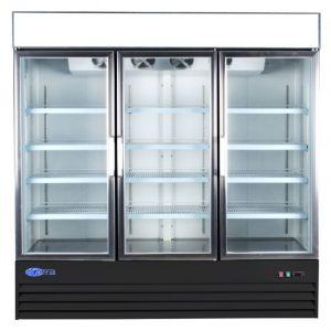 """Merchandiser Cooler, 78½"""", 3x Glass Swing Door"""