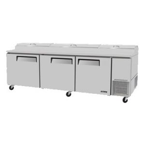 "Pizza Prep Table, 93"", 3-Door, 31ft³"