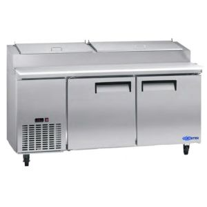 "Pizza Prep Table, 72"", 2x Doors, Refrigerated, S/S"