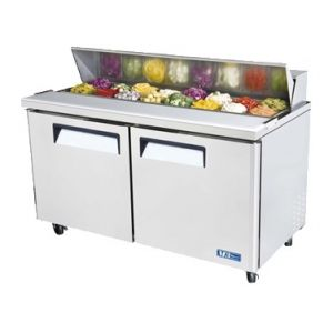"""Sandwich/Salad Prep Table, 60"""", 2-Door, 16ft³, S/S"""