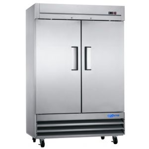 "Freezer, 54"", 2x Solid Door, Stainless Steel"