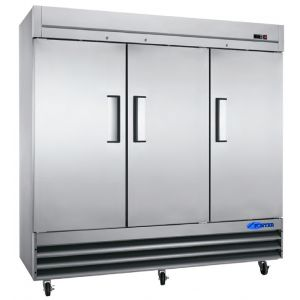 "Freezer, 81"", 3x Solid Door, Stainless Steel"