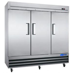 """Cooler, 81"""", 3x Solid Door, Stainless Steel"""