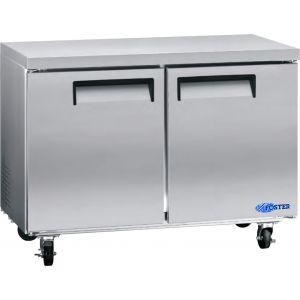 """Freezer, 48"""", Undercounter, 2x Solid Door, S/S"""