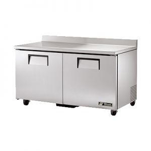 """Cooler, 60"""", Worktop, 2x Solid Door, 15½ft³, S/S"""