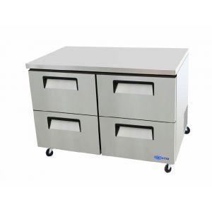 "Freezer, 48"", Undercounter, 4x Drawer, S/S"