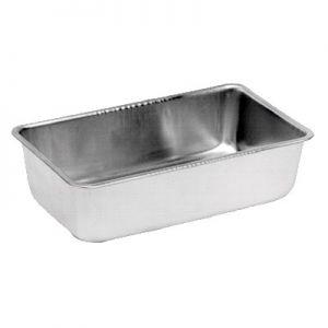 """Loaf Pan, 9¼""""x5-1/8""""x2½"""", Beaded Edge, Aluminum"""