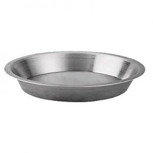 "Pie Pan, 10""x8¼""x1½"", Tapered, w/ ½"" Flange"