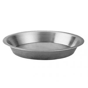 "Pie Pan, 12""x10¼""x1½"", Tapered, w/ ½"" Flange"