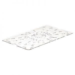 Drain Shelf, Full Size, Polycarbonate, Clear