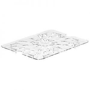 Drain Shelf, 1/2 Size, Polycarbonate, Clear