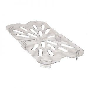 Drain Shelf, 1/4 Size, Polycarbonate, Clear