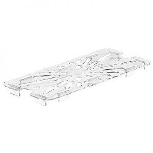 Drain Shelf, 1/3 Size, Polycarbonate, Clear