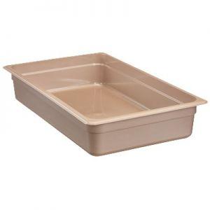 "Food Pan, Full Size, 4"" Deep, High Heat, Amber"