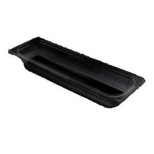 "Food Pan, 1/2 Size Long, 4"" Deep, PC, Black"