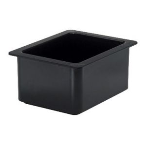 "Food Pan, 1/2 Size, 6"" Deep, Freezable, Black"