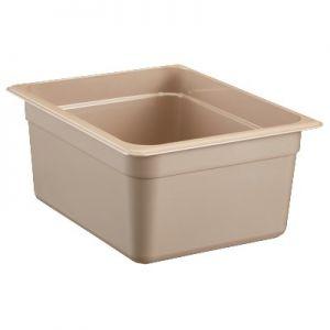 "Food Pan, 1/2 Size, 6"" Deep, High Heat, Amber"