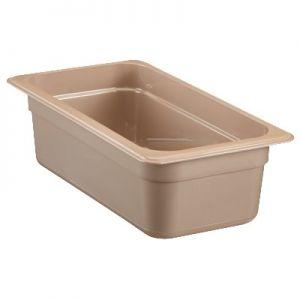 "Food Pan, 1/3 Size, 4"" Deep, High Heat, Amber"