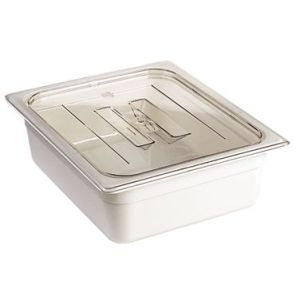 Lid, 1/3 Size, Handled, Solid, PC, CL