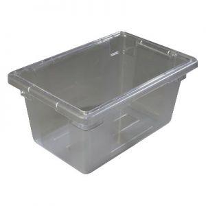 """Food Storage Box, 5gal, 18""""x12""""x9"""", PC, Clear"""