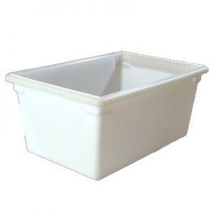 "Food Storage Box, 16gal, 26""x18""x12"", PE, White"