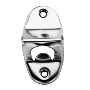 Bottle Opener, Wall Mount, Chrome Plated Steel