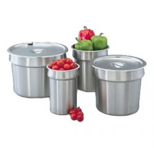 """Vegetable Inset, 7¼qt, 8¼"""" Deep, Stainless Steel"""