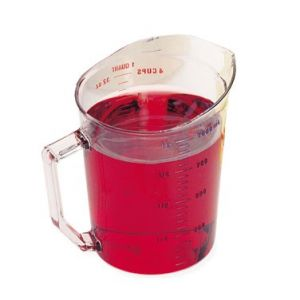 Measuring Cup, 1qt, Polycarbonate, Clear