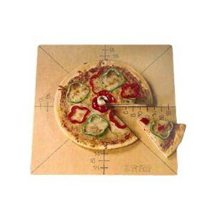 """Cutting Board/Guide, Pizza, 20"""" Square, 6-Slice"""