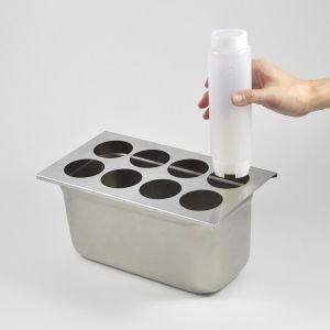 Insert, 1/3 Size, Bottle Holder, 8-Hole