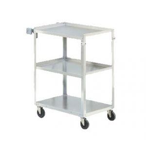 Cart, 3-Shelf, Medium Duty, Stainless Steel