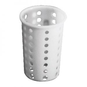 Cutlery Cylinder, Plastic, White
