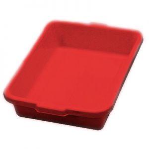 "Tote Box, 22""x15¾""x5¼"", Heavy Duty,Polyethylene,RD"