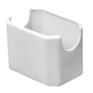 "Sugar Packet Holder, 3½""x2½""x2½"", Ceramic, White"