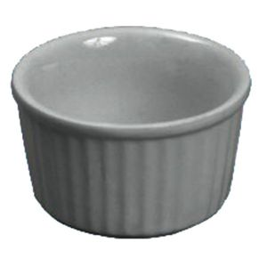 Butter Dish/Ramekin, 4oz, Ceramic, White