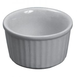 Butter Dish/Ramekin, 2½oz, Ceramic, White