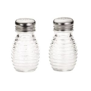 Salt/Pepper Shakers, 2oz Clear Glass, S/S Top
